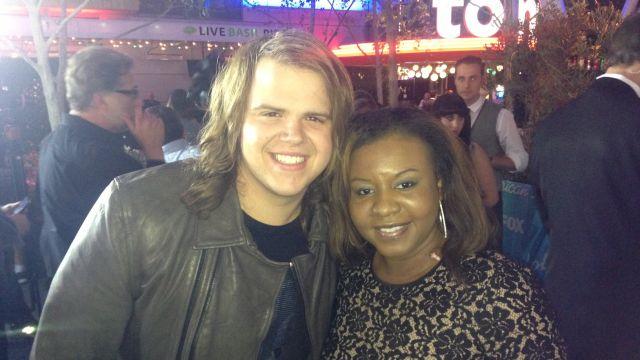 FOX Carolina's Jennifer Phillips interviewed Caleb in LA after his win.
