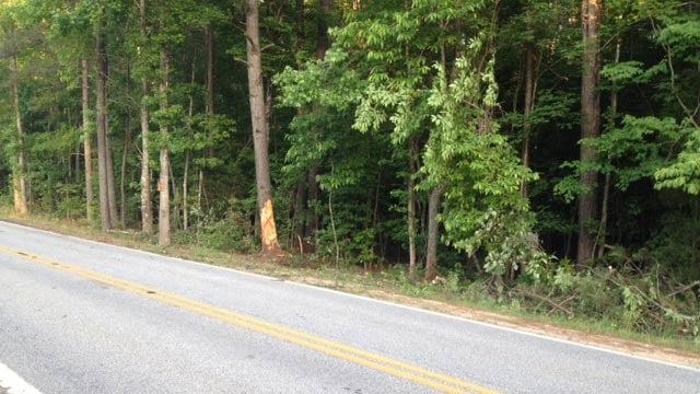 The scene of the accident on Shady Grove Church Road. (May 21, 2014/FOX Carolina)