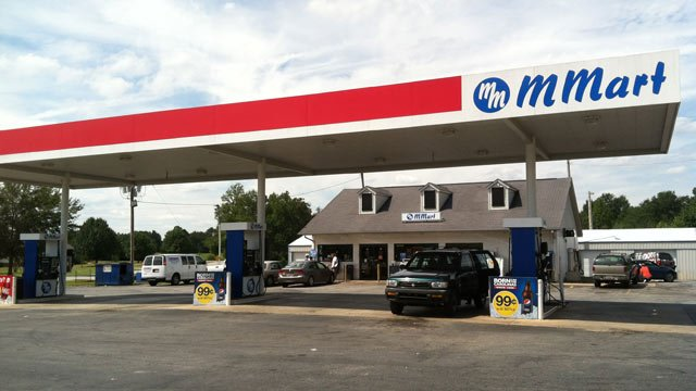 The M Mart on Liberty Highway where the struggle and shooting took place. (Sept. 13, 2012/FOX Carolina)