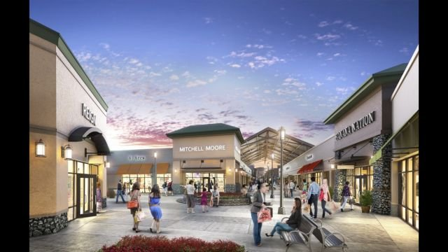 Artist's rendering of the future Asheville Outlets (Courtesy: ElemenT Advertising/ New England Development)