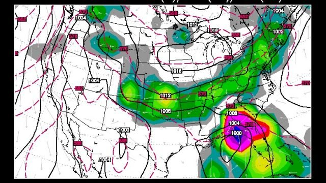 GFS model for a week from Friday (June 6)