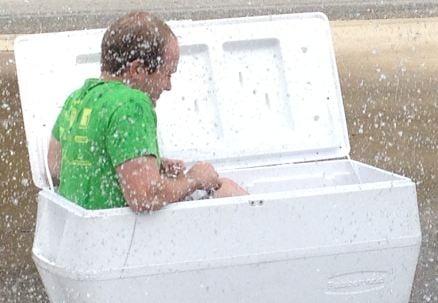 A close-up of Joe's spray down (FOX Carolina)