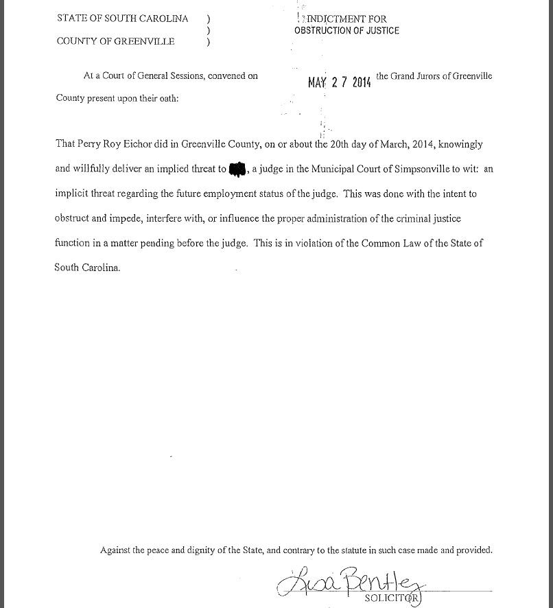 Page 3 of the indictment against Eichor (Courtesy: solicitor's office)