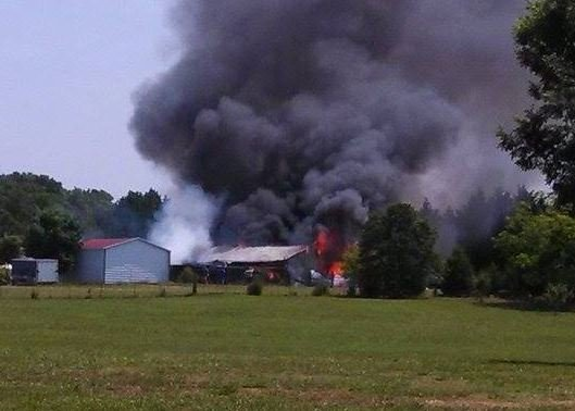 Barn fire (viewer photo)