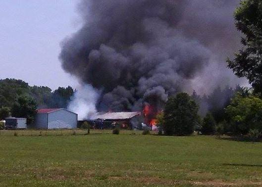 Barn fire (viewer photo)