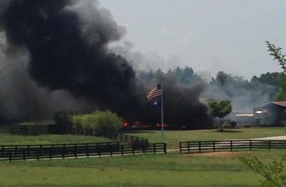 Barn fire (Courtesy: Jennifer Newton / Facebook)