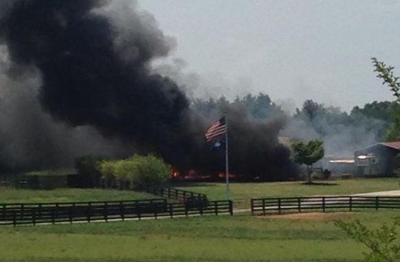 Barn fire (Courtesy: Jennifer Newton / Facebook)