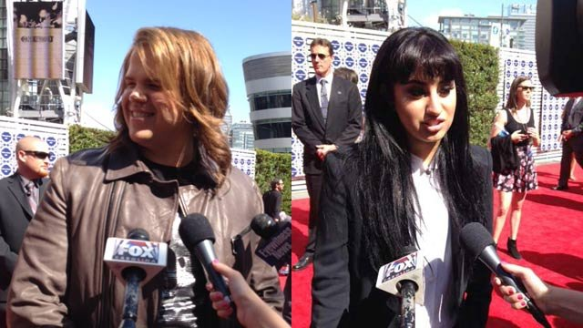 Caleb Johnson and Jena Irene on the red carpet in Los Angeles. (May, 21, 2014/FOX Carolina)