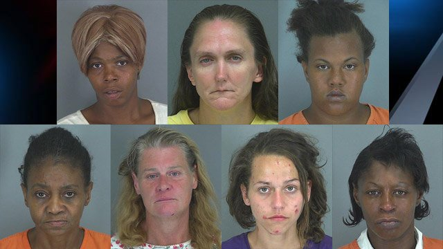 From top-left to bottom-right: Jessica Boyce, Alice Carroll, Jammicka Dawkins, Lyda Lipscomb, Cynthia Melton, Sabrina Panarse, and Jessica Rhodes.