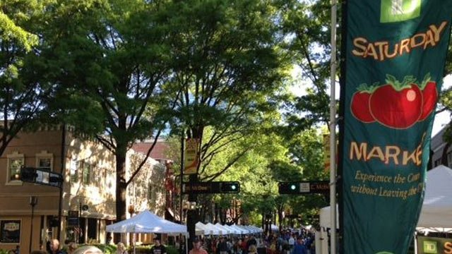 The TD Saturday Market is located on Main Street at McBee Ave. (File/FOX Carolina)
