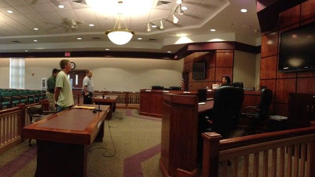 Kellett at a bond hearing on Thursday. (May 29, 2014/FOX Carolina)