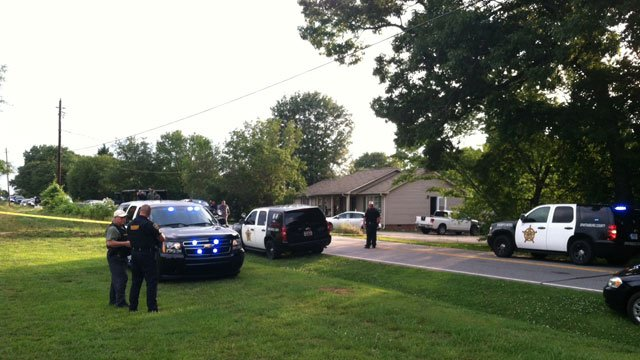 Deputies said a man suffering from a stab wound was found inside the home after SWAT entered. (May 29, 2014/FOX Carolina)