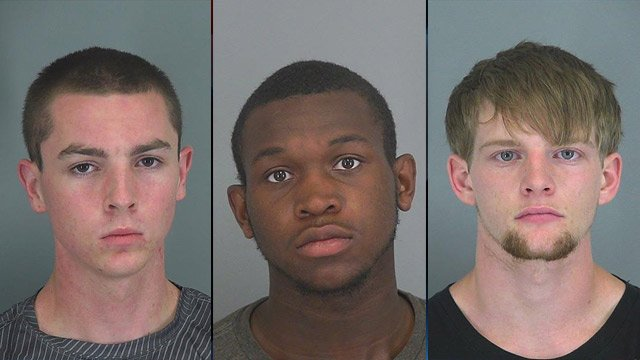 Left to right: Chase Burt, Douglas Jones and Timothy Tatham. (Source: Spartanburg Co. Detention Center)