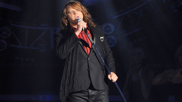 Caleb Johnson singing on 'American Idol' (Source: FOX)