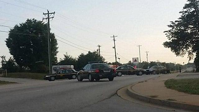 Deputies have Highway 20 blocked to all traffic. (June 2, 2014/Leah M.)