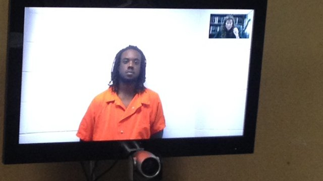 Keenen Williford appears before an Anderson Co. judge. (June 5, 2014/FOX Carolina)