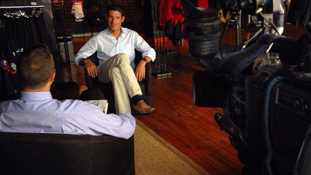 George Hincapie talks with FOX Carolina's Cody Alcorn about his new memoir. (June 5, 2014/FOX Carolina)