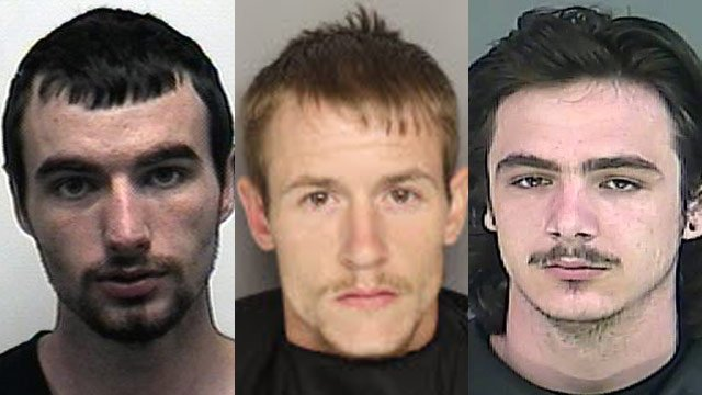 Jordan Browder, Dylan Lamar Tiller and Michael Harden. (Source: Greenville Co. Sheriff's Office and Anderson Co. Sheriff's Office)