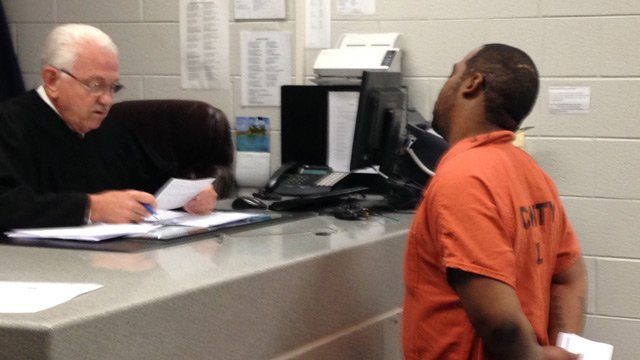 Lawrence Penson received a $7,100 bond in court on Monday.  (June 9, 2014/FOX Carolina)