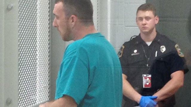 Medders at a bond hearing on Wednesday night. (June 11, 2014/FOX Carolina)