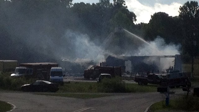 Fire gutted the business on McKowns Mountain Road. (June 11, 2014/FOX Carolina)