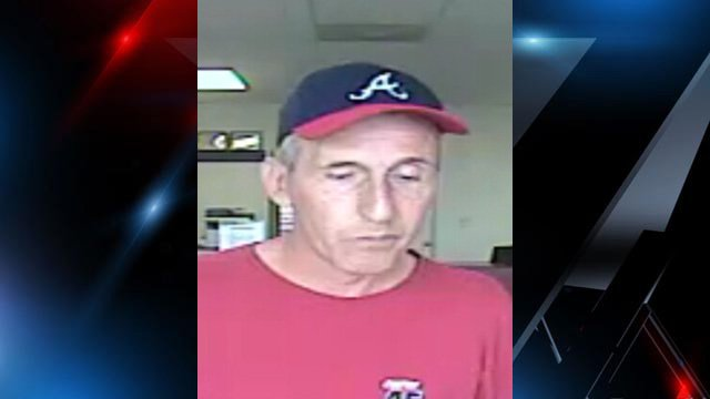 Surveillance photo of the robbery suspect. (Source: Easley Police Dept.)