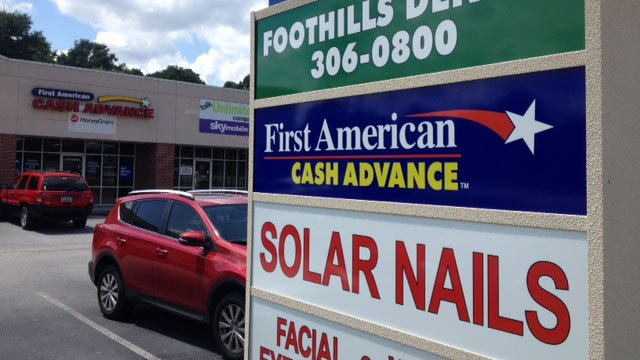 Police said the man entered the First America Cash Advance at 11:37 a.m. and demanded money, threatening to have a gun. (June 12, 2014/FOX Carolina)