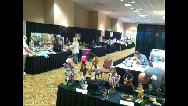Dolls on display at the International Doll Show (FOX Carolina)