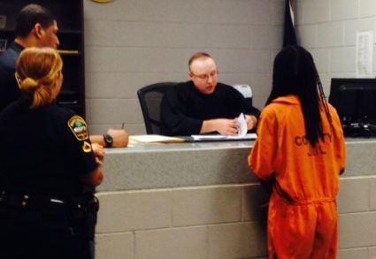 Rasheed Reeves in court (June 15, 2014/FOX Carolina)
