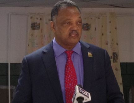 Rev. Jesse Jackson speaks in Greenville. (June 15, 2014/ FOX Carolina)