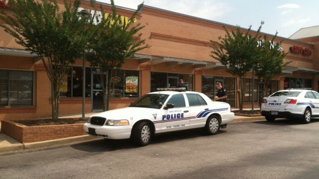 Police said a person jumped over the counter and took the cash drawer at the store located at 101 Verdae Blvd. (June 16, 2014/FOX Carolina)