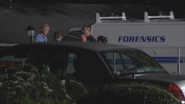 Police and firefighters respond to fire at home on Overbrook Circle. (June 17, 2014/FOX Carolina)
