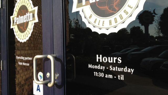 Palmetto Restaurant and Ale House doesn't open Sundays. (June 17, 2014/FOX Carolina)