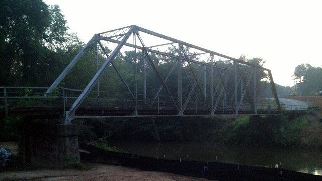 The Beaverdam Church Road bridge that will be closed on Wednesday. (June 18, 2014/FOX Carolina)
