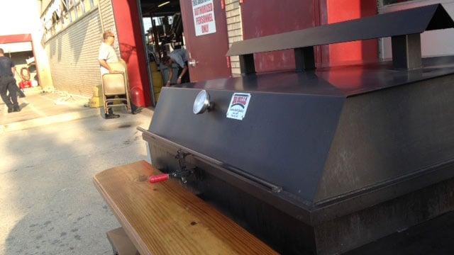 Firefighters get ready for fundraiser, BBQ. (June 18, 2014/FOX Carolina)