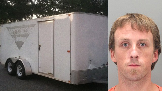 Deputies are looking for this trailer and Robert Henderson Jr. (Source: Greenville Co. Sheriff's Office)