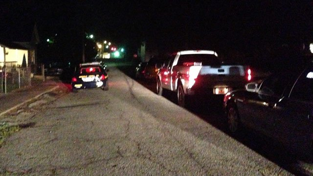 Deputies respond to Burdette Street where they say the teen was taken into custody. (June 20, 2014/FOX Carolina)