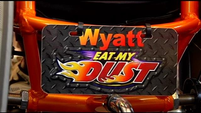 The back of Wyatt's wheelchair. (June 20, 2014/FOX Carolina)