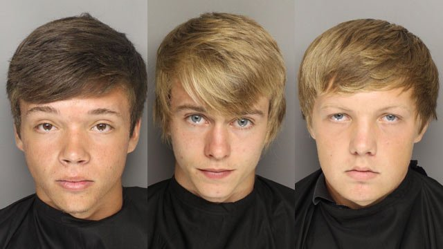 (From L to R) Dakota James Lampinen, Cole Andrew Holombo and Darrien Milo-Troy Kinnunen (Source: Greenville Co. Sheriff's Office)