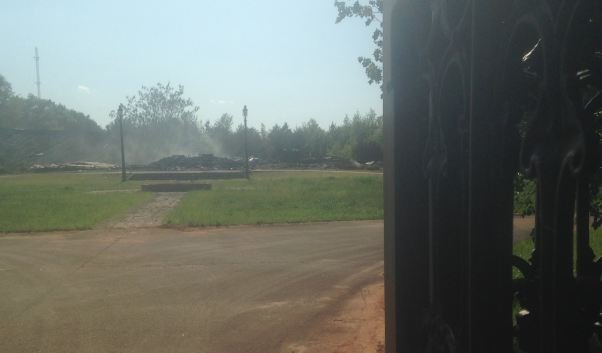 The smoldering remains of the home on Locust Hill Road. (May 4, 2013/FOX Carolina)