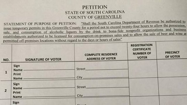 A copy of the petition trying to get alcohol sales on the ballot. (Source: David McCraw)