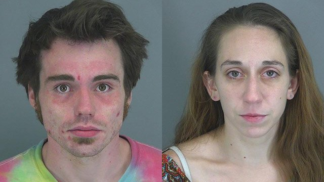 Caleb Burgess and Gina Gaudiano (Source: Spartanburg County Sheriff's Office)