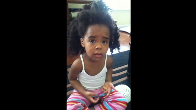 A video of the 3-year-old getting caught with a doughnut is going viral. (Source: YouTube)