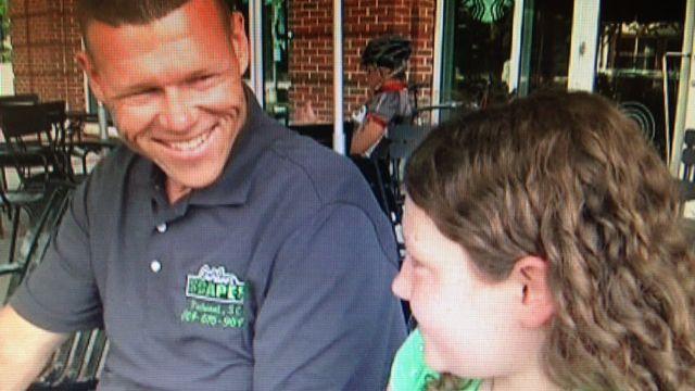 Scott Wood with his daughter Morgan. (June 24, 2014/FOX Carolina)