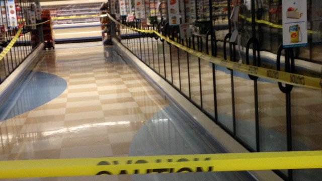 The refrigerated sections of the Bi-Lo on Hwy. 14 were blocked off to customers. (June 25, 2014/FOX Carolina iWitness)