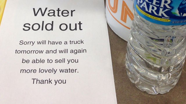 Water was sold out at the CVS in Anderson on Governors Blvd. on Thursday. (June 26, 2014/FOX Carolina)