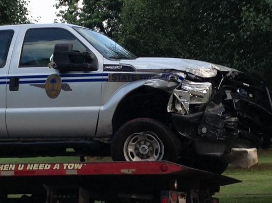 SCHP vehicle involved in crash (FOX Carolina)