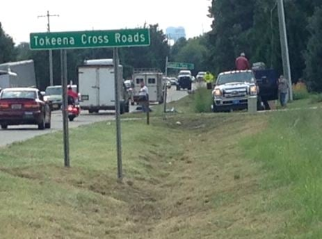 Scene of the crash on Highway 24 (FOX Carolina)
