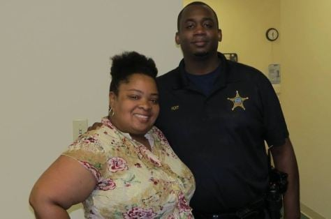Deputy James Hunt (right ) and wife. (Courtesy: Laurens County Sheriff's Office/ Facebook)