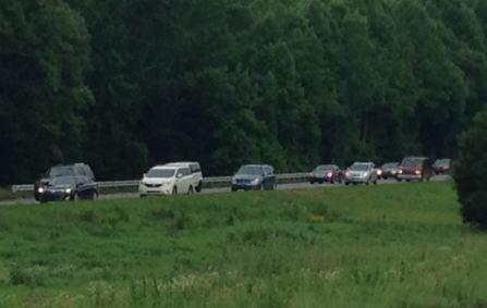 Traffic slowed on I-26 (FOX Carolina)